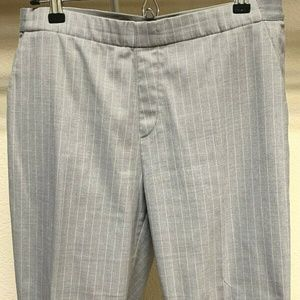 Uniqlo Pull Up Elastic Waist Pants Gray Striped